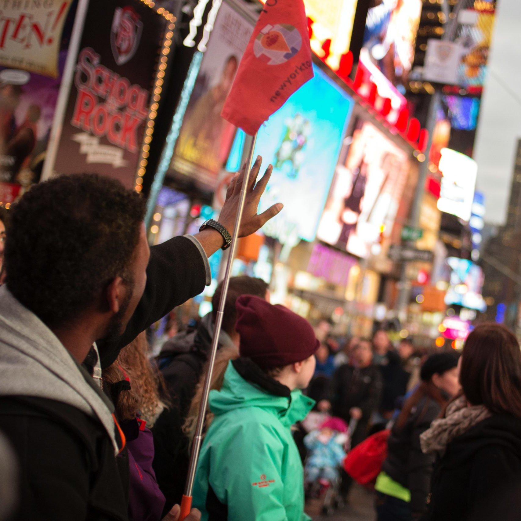tour guide on times square